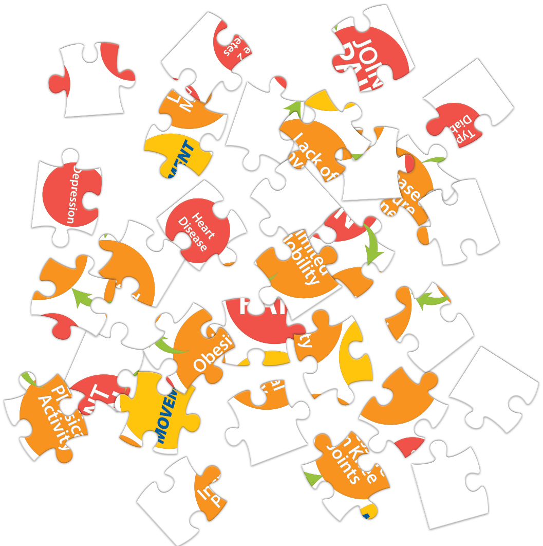 scattered Vicious Cycle puzzle pieces
